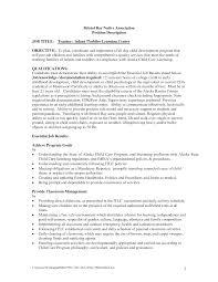 Substitute Teacher Resume Job Description Preschool Kindergarten And Elementary Teacher Resume Ideas