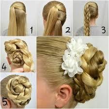 flower hair bun braided bun with beautiful flower accessories alldaychic