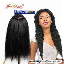 crochet braids with human hair pre loop yaki straight hair crochet braids hairstyles 100g pack