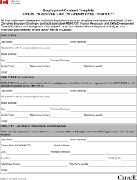 employment contract template template free download speedy