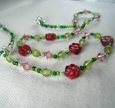 glass flower necklace images Little girls jewelry raspberry glass flowers swarovski crystal jpg