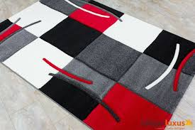 Black And Red Shaggy Rugs Warm Red And Grey Rug Nice Design Blackgrey With Red Shag Area Rug