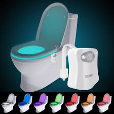 Rainbow Bathroom Accessories by Websun Motion Activated Toilet Night Light 8 Color Changing Led