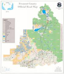 Idaho Road Map Fremont County Public Works