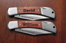 Groomsmen Knife Gifts 3 Personalized Engraved Wood Gentlemen U0027s Knife Groomsmen Knife