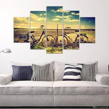 Home Wall Decoration 2017 The Bike Travel Lovers Out Of City For Modern Home Wall Decor