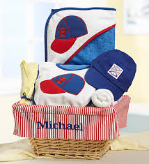 personalized gift for baby baby boy slugger gift basket