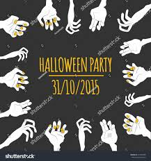 zombie halloween invitations funny halloween illustration frame cartoon zombie stock vector