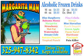 strawberry margarita cartoon margarita man to go san angelo party barn