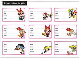 9 powerpuff girls labels kids vectors stock format