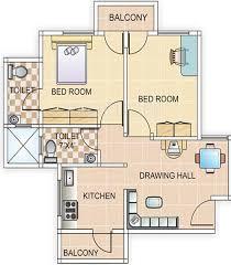 700 sq ft 700 sq ft 2 bhk floor plan image ashtavinayak planners galaxy