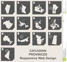 Canadian Provinces Map Set Of Canadian Province Map Buttons Stock Illustration