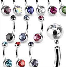 belly rings titanium images 78 piece surgical steel internally threaded belly rings gif