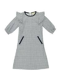 houndstooth dress valenteen houndstooth ruffle dress navy white 2y 12y dresses