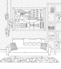 modern house coloring pages u2013 images free download