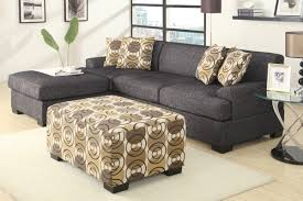 hayward ash black small sectional sofa with right facing chaise at