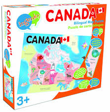 Edmonton Canada Map by Amazon Com Ingenio Canada Map Floor Puzzle Toys U0026 Games