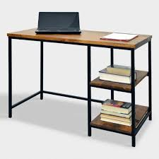 wood and metal writing desk wooden writing desk computer desks home office and wood world market