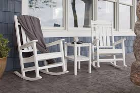White Aluminum Patio Furniture by Polywood Two Shelf Side Table Daniels U0027 Homeport Coastal