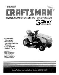 craftsman 917 255470 owner s manual