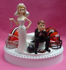 and chain cake topper wedding cake topper team rivalry football house divided and