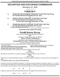 credit suisse group sec report