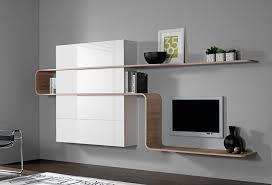 bureau meuble design meuble tv bureau élégant position murale design chªne blanc laqué