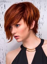 boyish short with long fringe styled one side