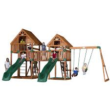 shop backyard discovery vista expandable residential wood playset