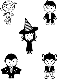 clipart classic halloween monsters