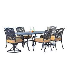 Cast Aluminum Patio Table And Chairs by Shop Sunjoy Cast Aluminum Patio Dining Set At Lowes Com