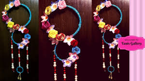 home decor hanging beads how to make wall hanging at home wall hanging with bangles and