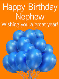 wishing you a great year happy birthday card for nephew