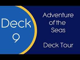 adventure of the seas floor plan adventure of the seas deck 9 tour youtube