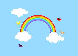 rainbow decal reusable rainbow wall decal children wall decal zoom