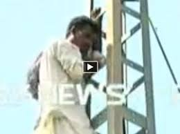 Seeking In Islamabad Climbs To Top Of Electric Pole Seeking Justice In Islamabad