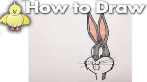 bugs bunny how to draw bugs bunny step by step cartoons youtube