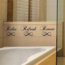 relax refresh renew bathroom wall decals vinyl sayings stickers
