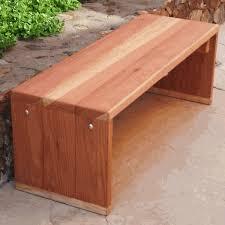 best redwood solid backless park bench