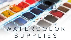 my watercolor art supplies youtube