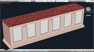Autocad Kitchen Cabinet Blocks Creating A Counter Top Autocad 3d Cabinets Autocad 3d Wardrobe