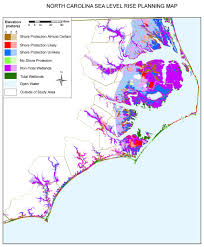 Map Of North Carolina Cities Sea Level Rise Planning Maps