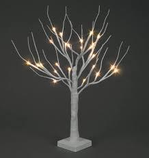 b o 60cm white snowy twig tree w 24 warm white leds trans