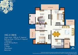 Floor Plan Ikea Bhk Sq Ft Apartment For Sale In Mahagun Mahagunpuram At Floor Plan