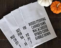 thanksgiving dinner napkins drop cloth napkins etsy