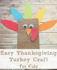 life with 4 boys easy brown bag turkey thankgiving craft happy