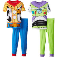 toy story buzz lightyear and woody combo pajamas walmart com