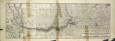 Map Topeka Ks The Atchison Topeka And Santa Fe Railroad Pleasure Resorts Of