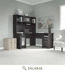 Bush Desk With Hutch L Desk With Hutch In Espresso Oak Bush Furniture Cab001epo