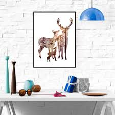 deer home decor painting canvas picture more detailed picture about frameless